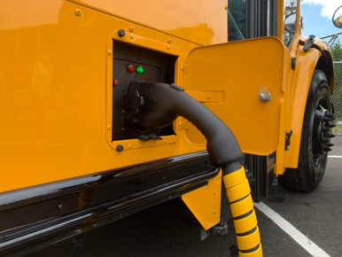 Dominion's electric school bus program is subsidizing 15 Virginia school districts' purchases of electric buses, which cost more than three times the price of a diesel-powered bus.